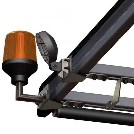 RVS lampbeugel
