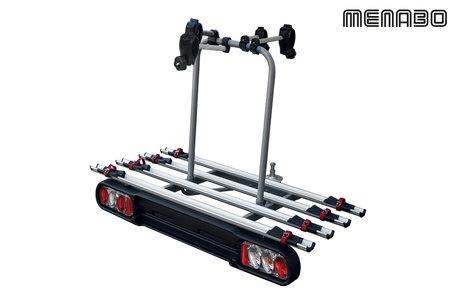 Fietsendrager voor 4 fietsen 60 kg draagvermogen trekhaakmontage