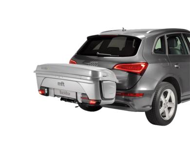 Bagagebox met frame voor trekhaak MFT Euro Select Box 1500 zilver/grijs